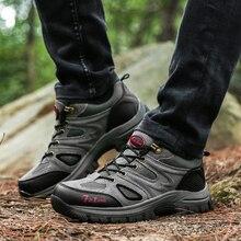 Outdoor Hiking Trekking Boots Waterproof Boot Brand Men canvas fishing shoes Hiking Shoes Boots  Sport Shoes Mountain Climbing