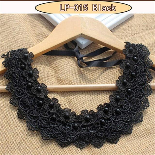 Victorian crystal choker collana di pizzo nero choker del collare dell'annata mo