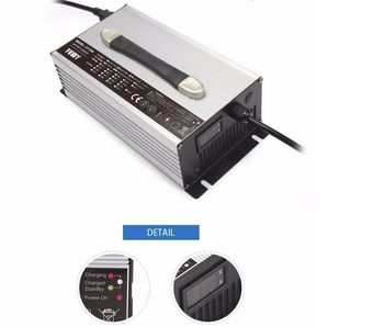 1200W 48V 20A Lifepo4 charger 58.4v 20amp Battery Charger for E-Z-GO Golf Cart Forklift with LCD screen