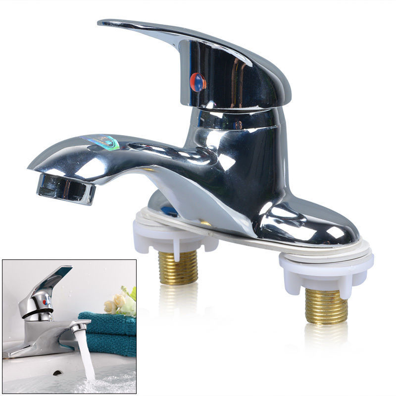 Good Quality Kitchen Bathroom Basin Faucet 1 Handle 2 Holes Vanity