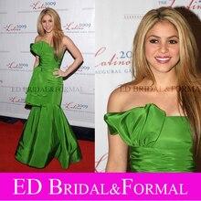 Shakira Grün Abendkleid Latino Inaugural Gala Roter Teppich-berühmtheit Formale Abendkleid