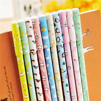 100 pcs/Lot Cute animal Gel pen Chinese feature ballpoint pen Kawaii Zakka Caneta papelaria material escolar school supply F508