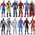 12 inch 30 см Мстители Супер Герои Капитан Американской Человек-Паук Железный Человек Росомаха фигурку модель игрушки
