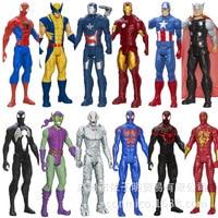 12inch 30cm The Avengers Super Heros Captain American Spider Man Iron Man Wolverine Action Figure Model