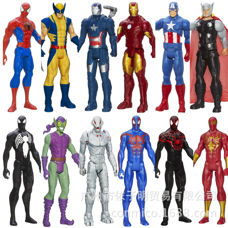 12inch 30cm The Avengers Super Heros Captain American Spider Man Iron Man Wolverine action figure model toys Ant-Man THOR