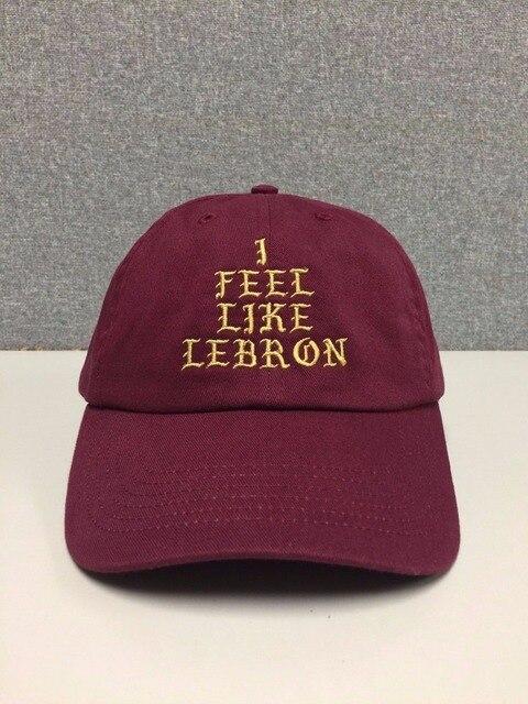 NEW I FEEL LIKE LEBRON pablo Hat (slide buckle) james kanye west cleveland  cavs bear dad drake snapback Baseball cap 8775dd5d7c2f