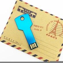 100% real capacity usb flash drive pen 4GB 8GB 16GB 32GB 64GB waterproof Metal Card Key pendrive Memory Stick stick