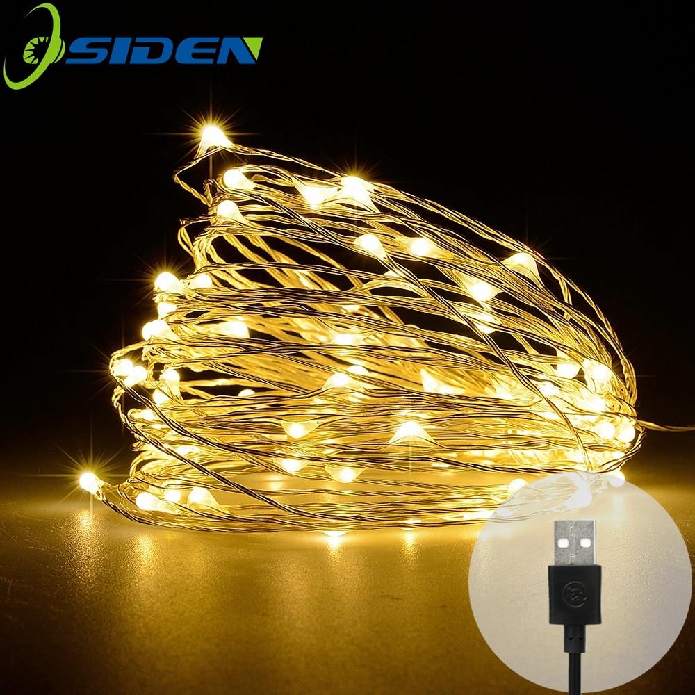 OSIDEN 5V USB Powered 10M 100LED 5M 50LED garland Christmas Lights Luminaria String lightsOutdoor FestivalWeddingPartyDecoration