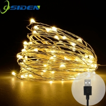 led lichtslingers 10 M 33ft 100led 5V USB aangedreven outdoor Warm wit / RGB koperdraad kerstfeest bruiloft decoratie
