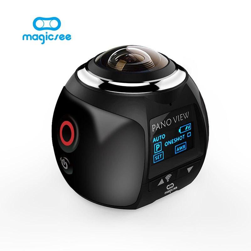 Magicsee V1 caméra 360 Caméra d'action Wifi 2448*2448 Ultra HD Mini Caméra Panoramique 360 Degrés Sport Conduite VR caméra
