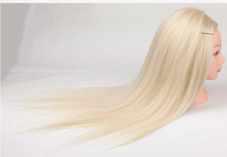 White Hair Beard Hairdressing Training Man Head Mannequin Doll