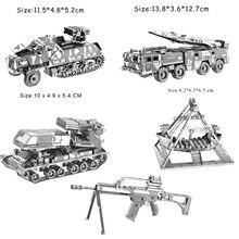 3D Metal Nano Puzzle DIY Assembly Car/Military/Building Mode