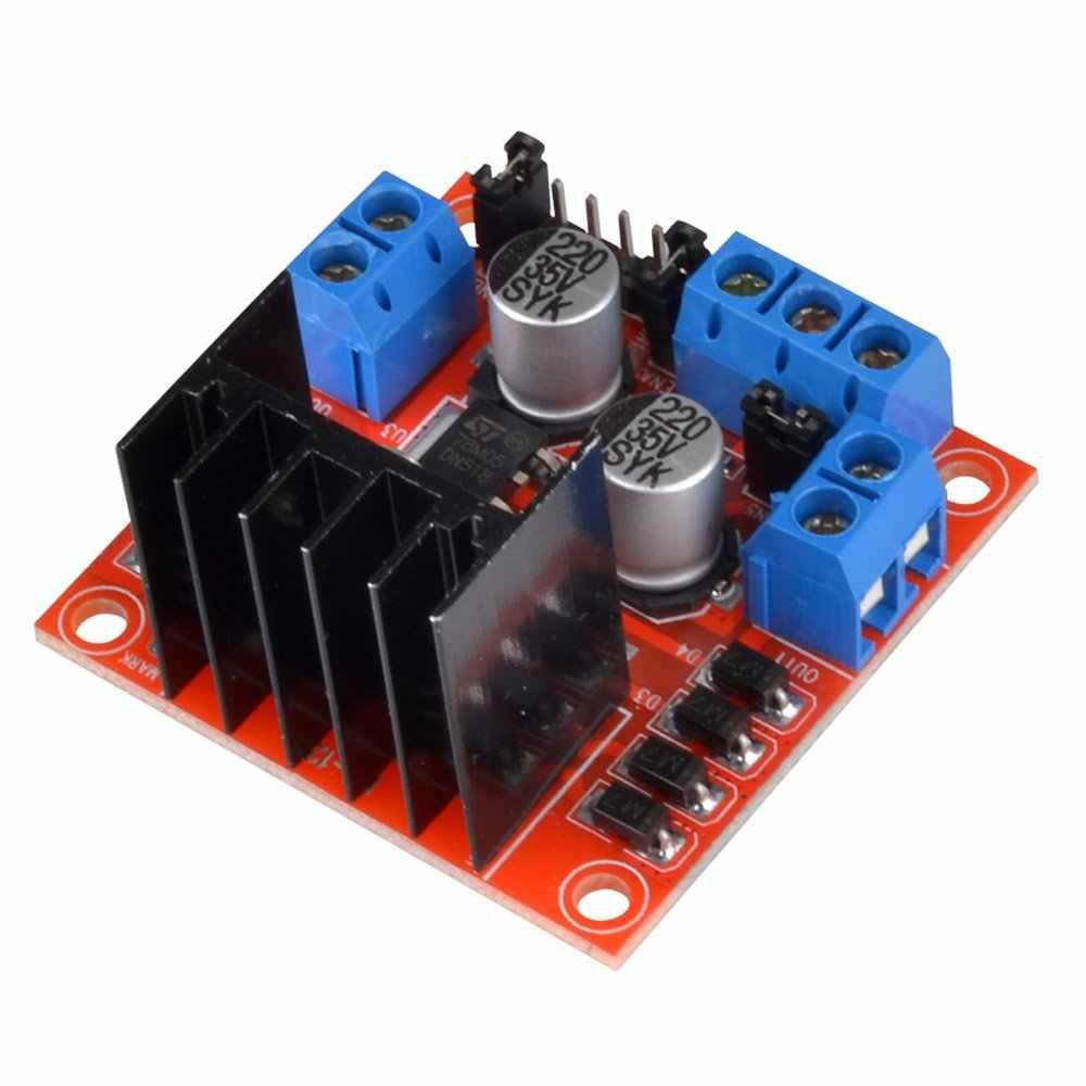 L298N Módulo de placa de controlador L298N motor paso a paso smart car robot protoboard peltier de alta potencia L298 controlador de Motor de CC para arduino