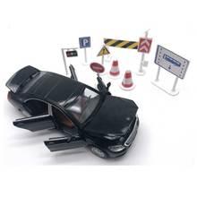 1:32 6 Dörrar kan öppnas GL500 Simuleringsbil Modell Boys Draga Back Matte Djupa Metallfordon Acousto-optiska Alloy Bil Leksaker