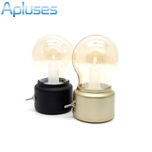 Bombilla Led Vintage de noche, lámpara Retro USB, lámpara recargable, Luminaria, luz nocturna LED, ahorro de energía, lámparas de mesa para libros