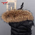 Natural Fur New Winter 100% Raccoon Fur Real Collar & Womens Scarfs Fashion Coat Sweater Scarves Collar Luxury Neck Cap L#06