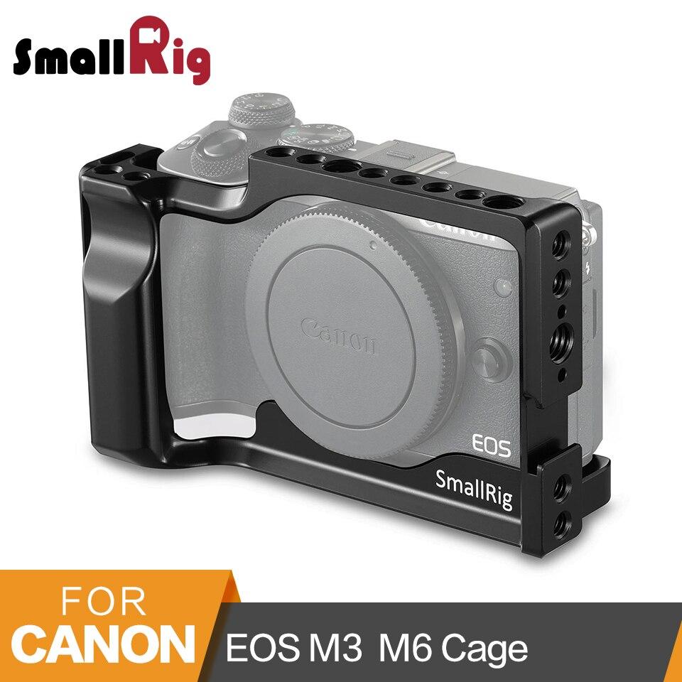Petite Plate-forme pour Canon EOS M3 et M6 Cage avec chaussure froide + Rail otan + plaque QR suisse Arca intégrée-2130