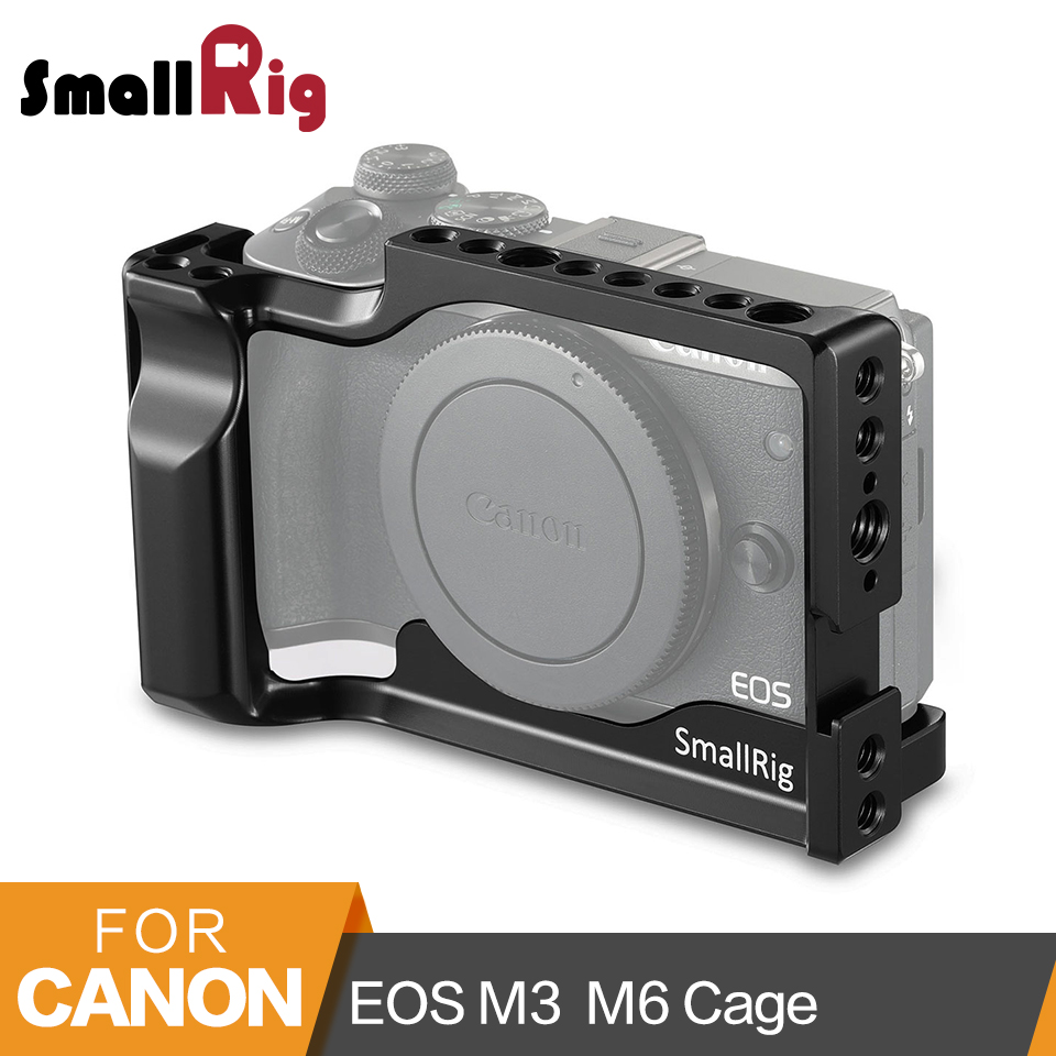 SmallRig For Canon EOS M3 and M6 Cage With Cold Shoe+NATO Rail+Built-in Arca Swiss QR Plate -2130