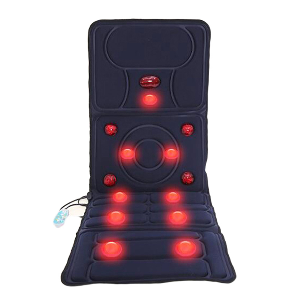 Household Multi-function Electric Heating Body Massager Healthcare Pillow Full-body Massage Mattress Pad Waist, Neck Massager