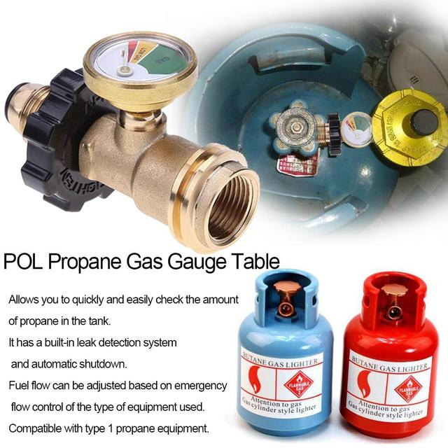 US $11 68 34% OFF|POL Propane Gas Gauge Table QCC1 BBQ Pressure Valve  Propane Tank Pressure Test Instrument Tools-in Pressure Gauges from Tools  on