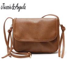 Jiessie&Angela New Vintage Crossbody Bag Women Leather Handbag Fashion Bags Small Purse Ladys Shoulder Bolosa Wholesale