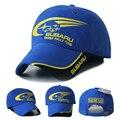 2016 Nuevos Hombres Al Aire Libre Mujer SUBARU F1 Racing Cap de Algodón Masculina deportes Motociclismo Coche Viseras Sombreros de Sun Gorras de Béisbol hueso Azul