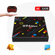 H96 MAX H2 TV Box Android 7.1 4GB 32GB RK3328 Quad Core 4K VP9 HDR10 USB3.0 WiFi Bluetooth 4.0 Set Top TV Box PK X96 X92
