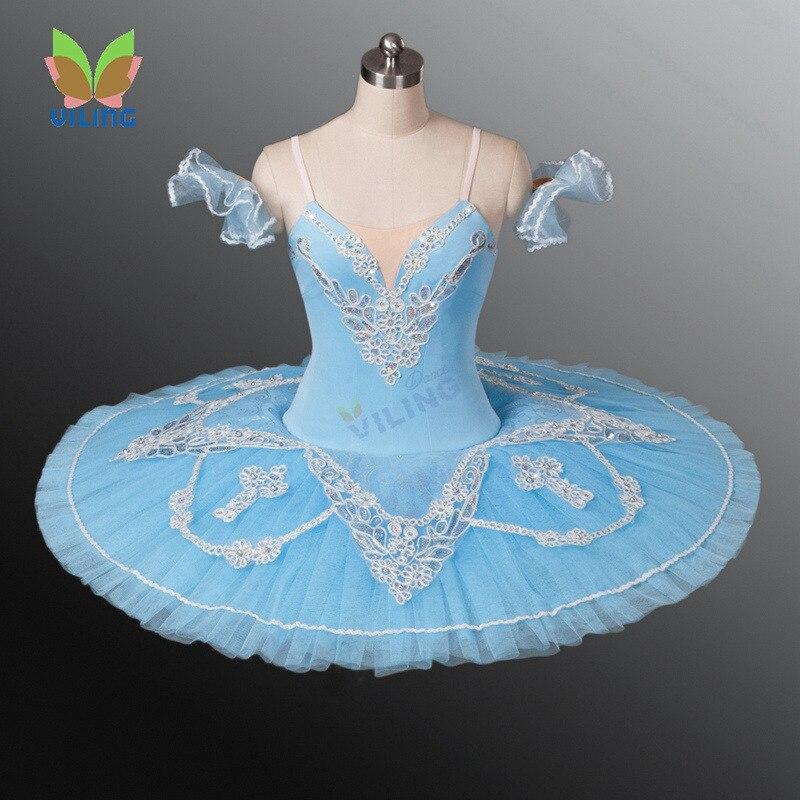 Балетное платье пачка для женщин, танцевальные костюмы, светло голубое балетное платье пачка для девочек