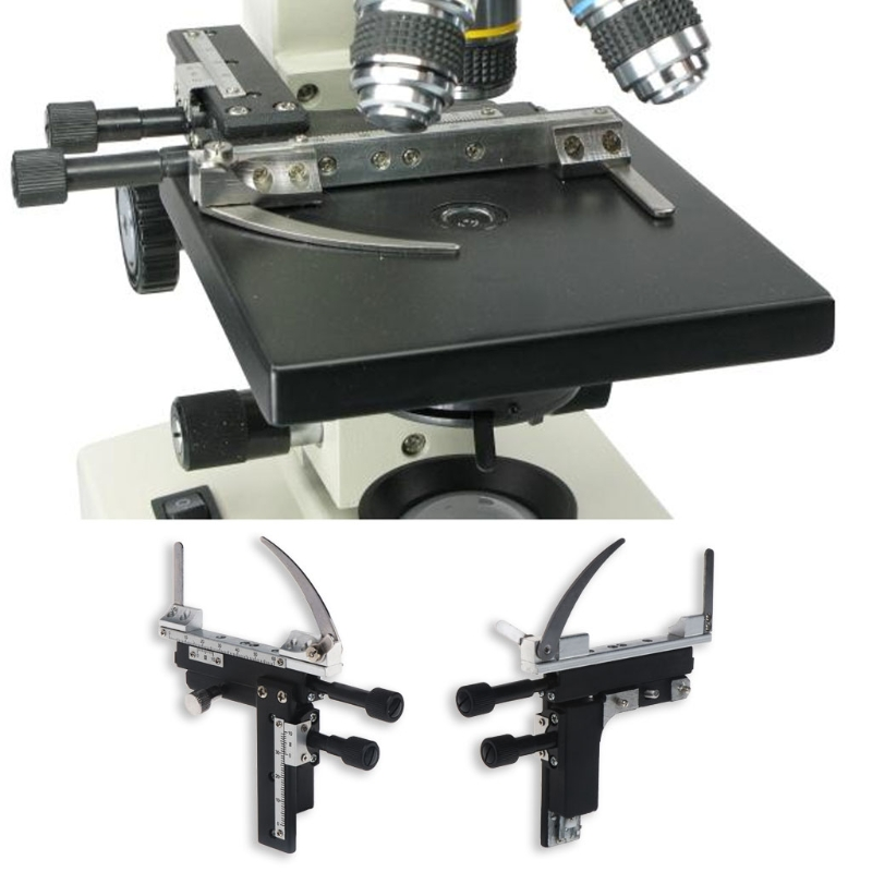 Microscope Moveable Stage Caliper With Scale Attachable Mechanical Stage X-Y High-precision Vernier Biological