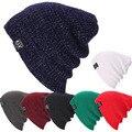 Unisex Mujer Hombre Invierno Caliente de Esquí de Punto de Ganchillo Slouch Sombreros Cap Beanie Oversized-Y107