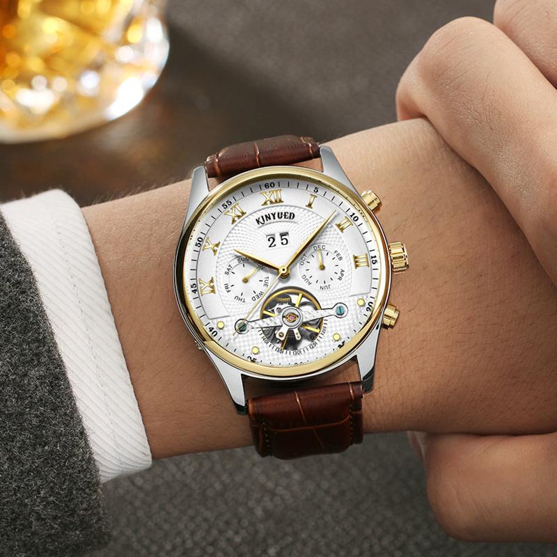 HTB10QLwPXXXXXbFXpXXq6xXFXXX5 - KINYUED Skeleton Watch for Men