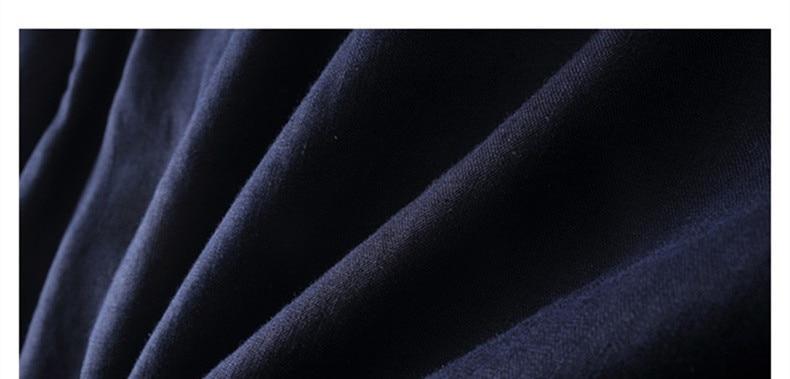 Italien stil 100% linned skjorte mænd langærmet afslappet mænd - Herretøj - Foto 5