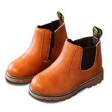Spring Autumn Winter Boys Girls Boots Plush Kids Child Martin Handmade Leather Toddler Shoes