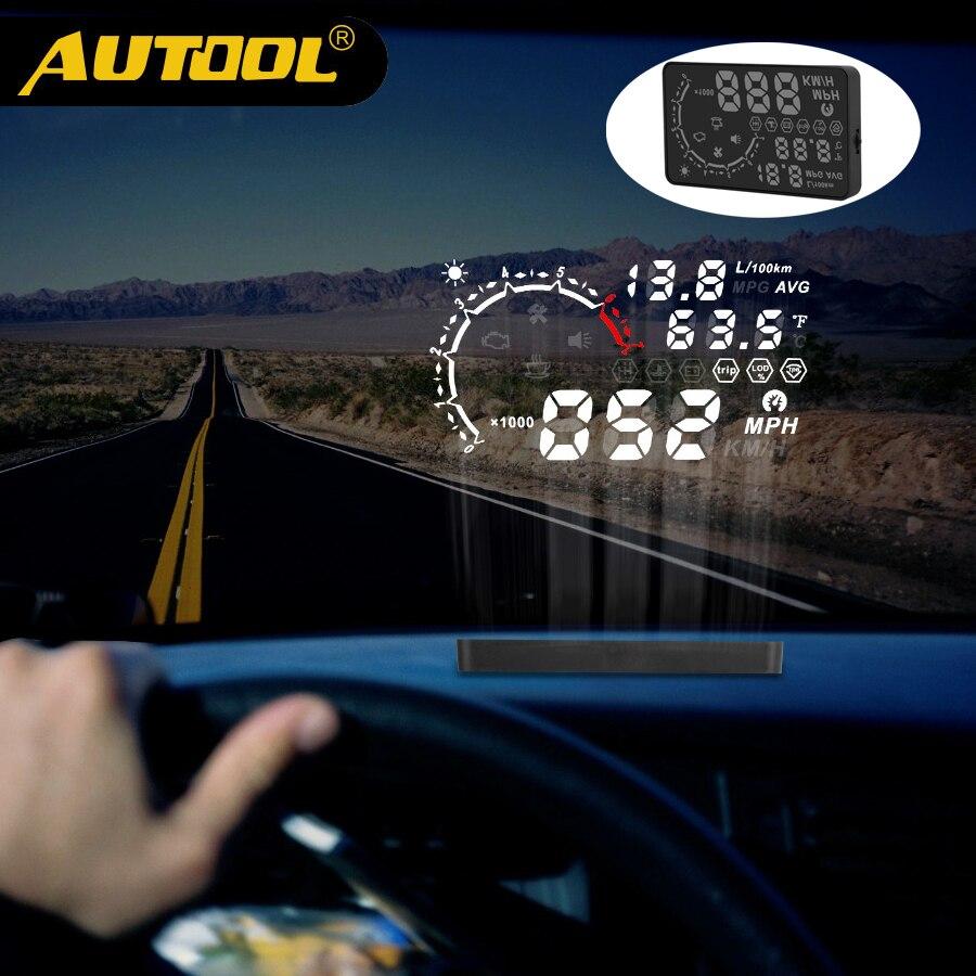 AUTOOL X230 proyector HUD Head Up Display Car Metro OBD2 película Obd II Calibrador automático Digital velocímetro proyección herramienta de diagnóstico