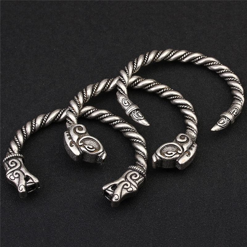 XINYAO Retro Otvoreni Fenrir Zmaj Viking narukvice Bangles za - Modni nakit - Foto 2