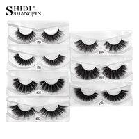 wholesale 100 pairs 3d mink lashes natural long false eyelashes makeup hand made fake eyelash mink eyelashes full strip lashes