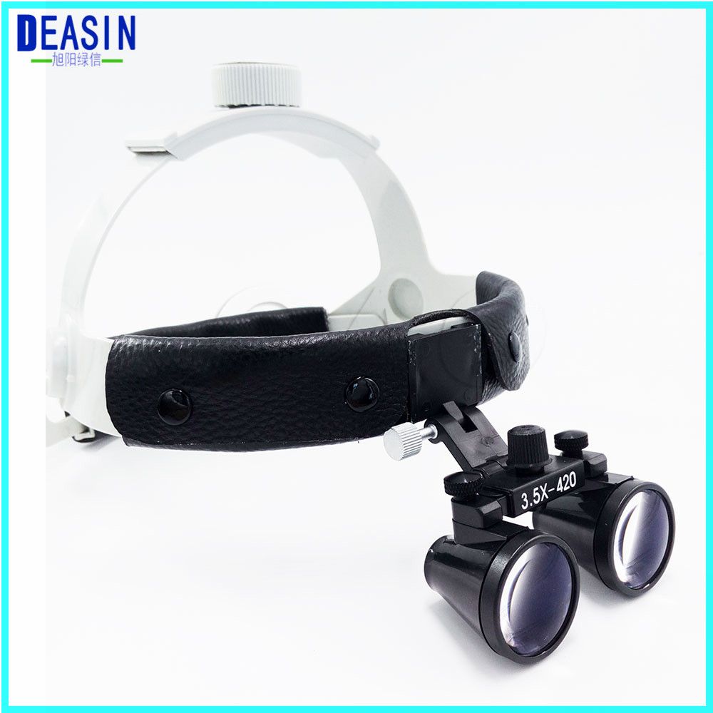 Good quality Dental Surgical Binocular 3.5 X 420mm Medical Magnifier All in Ones operation lamp surgical LED Headlight black 2018 good quality adjustable dental surgical headlight led headlamp black medical lab equipments