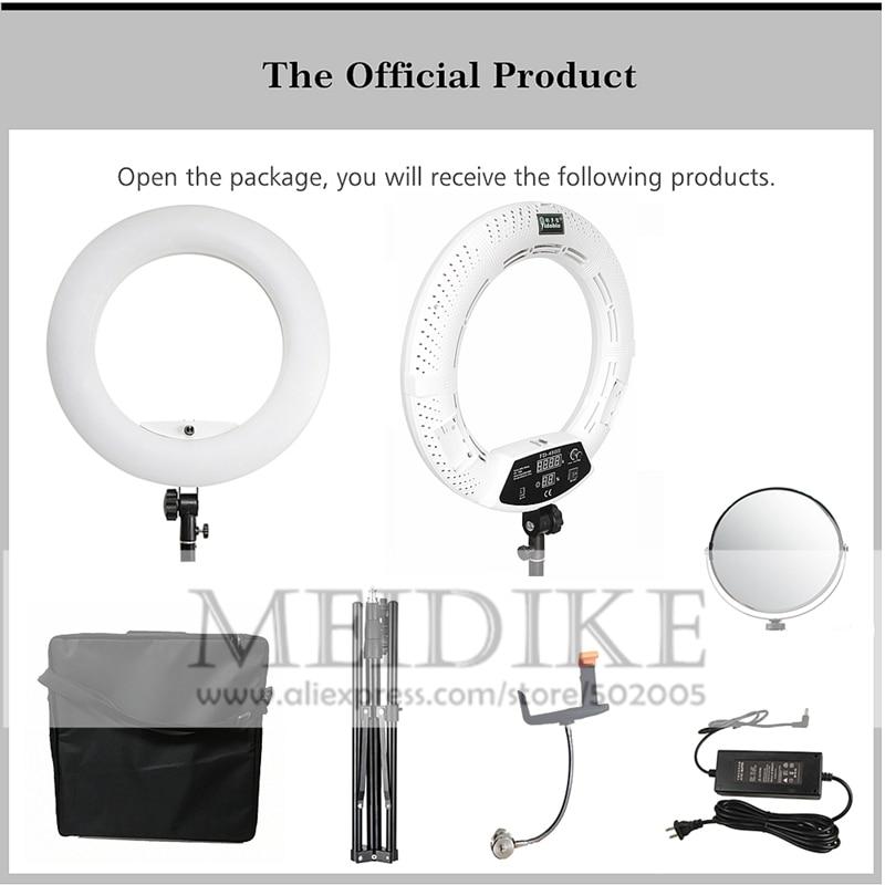 Yidoblo 96W Ring Light FD 480 Pro Beauty Studio LED Ring lamp Kit 480 LEDS Video Yidoblo 96W Ring Light FD-480 Pro Beauty Studio LED Ring lamp Kit 480 LEDS Video Light Lamp Makeup Lighting + stand (2M)+ bag
