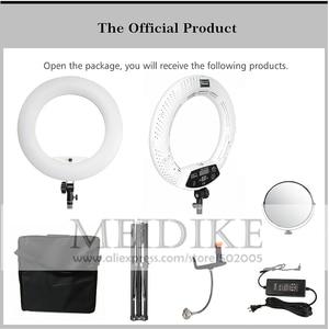 Image 4 - Yidoblo חם & קר אור FD 480II פרו יופי סטודיו LED טבעת מנורת 480 נוריות וידאו אור מנורת תאורת איפור + stand (2 M) + תיק