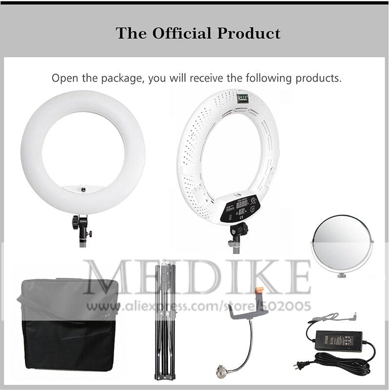 Yidoblo Warme und Kalte Licht FD 480II Pro Schönheit Studio LED Ring lampe 480 LEDS Video Licht Lampe Make Up Beleuchtung + stehen (2 M) + tasche - 4