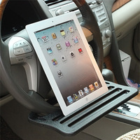 Portable Mini Car Steering Wheel Mount Stand For Ipad Iphone Bus Trunk Driver Seat Food Tray Table Nacks Drink Holder Stands|steering wheel mount holder|ipad steering wheel|holder wheel -
