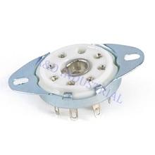 5pcs 8pin Octal Ceramic Loctal Tube Socket Bottom Mount 5B254 1LA6 B8G Base Chassis Audio Amp