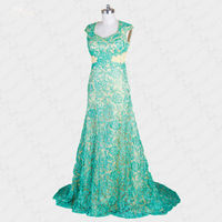 RSE230 свадебные вечерние платья для женщин элегантные кружевные свадебные платья для гостей зеленое платье подружки невесты