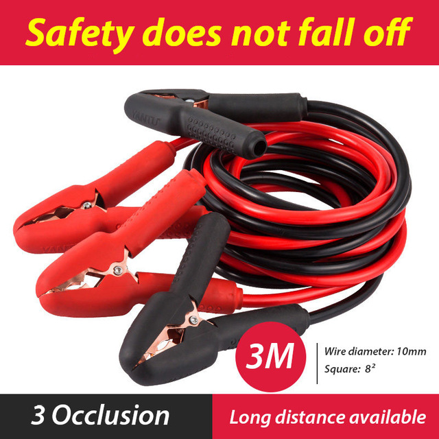 CAR-partment Emergency Power Battery Cables Car Auto Booster Cable Jumper Wire 3 Meters Length Charging Leads Car Van high quality 36 sqmm 4m jump leads booster cable car emergency tool jumper wire car battery firewire cables copper clip