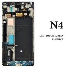 5 шт. Super AMOLED Панель для Samsung Galaxy Note 4 Дисплей с рамкой N9100 N910F N910A N910V ЖК-дисплей смартфон Экран замена