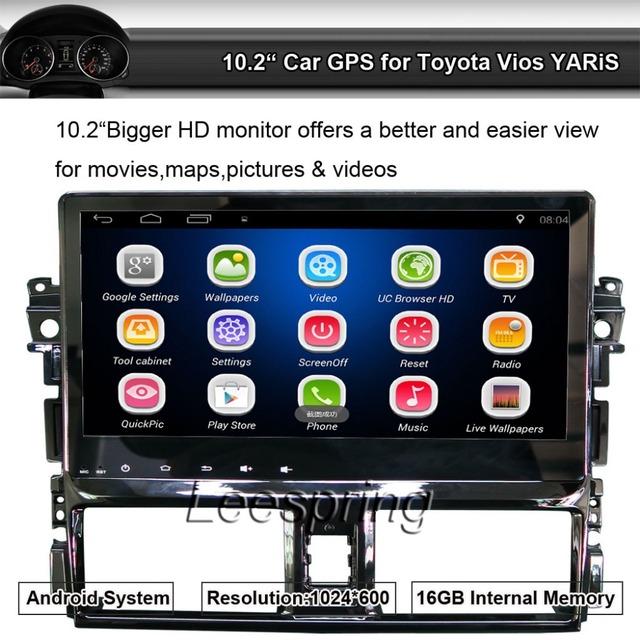 Android 4.4 Quad Core uso de Navegação Do GPS Do Carro para Toyota Vios YARiS Radio Player suporte bluetooth WI-FI (sem Dvd)