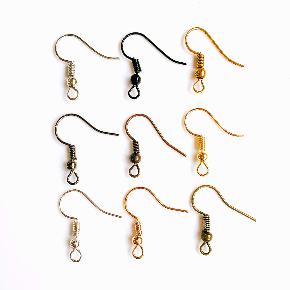 ZEROUP 100pcs Multicolor Plated Earring Hooks Back Silver Gold Ear Base Supplies For Jewelry Finding EB-04