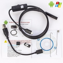 1M/2M/5M 5.5mm Endoscope Camera HD USB Android Endoscope Waterproof 6 LED Borescope Inspection Camera Endoscope For Android PC