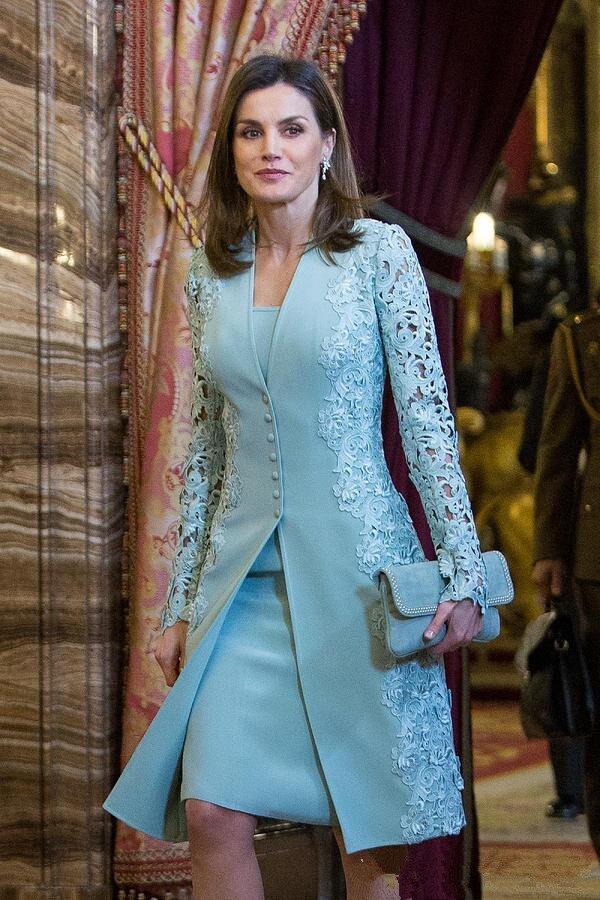 Élégant extérieur mère de mariée robes costumes courts deux pièces bleu à manches longues marié mère robe pour mariage dentelle Uk arabe