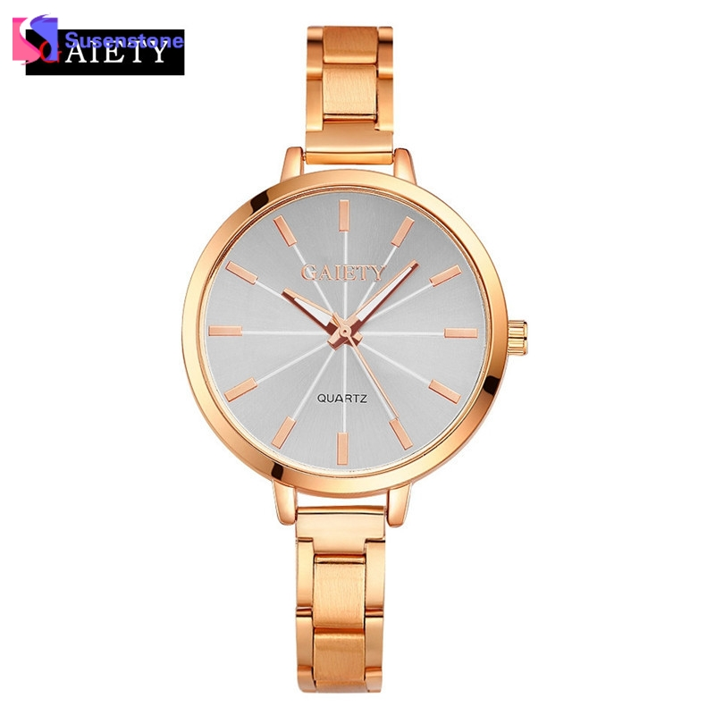 Luxury Brand Women Fashion Analog Quartz Wrist Watch 2017 Stainless Steel Band Female Clock Bracelet Ladies Dress Watches Hour men s fashion round collar pullover printed t shirt